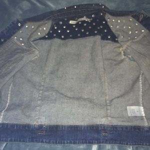 Romeo & Juliet Couture Jackets & Coats - FLAT SPIKE JEAN VEST